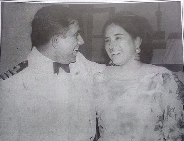 A Sindhi who pioneered Technology Transfer in Indian Navy - Admiral-GC-Thadani with wife - Sindh Courier - Courtesy Thadani Website
