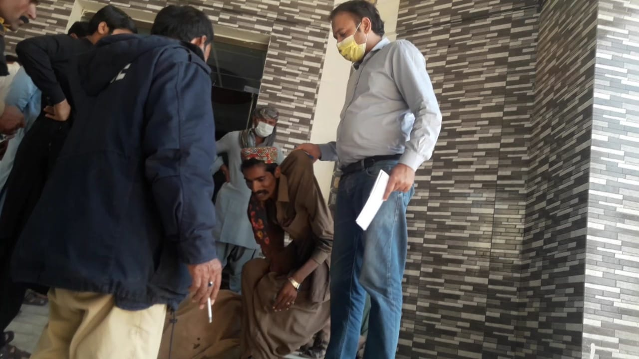 Photo of Aged and disabled ailing person forced out of Dadu hospital's Casualty Ward