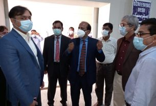 Frontline Health Workers to be vaccinated from Feb 3 - DC Hyderaad - Sindh Courier