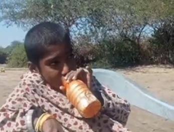 Health official meets petrol-addict girl - Sindh Courier - Jati-1