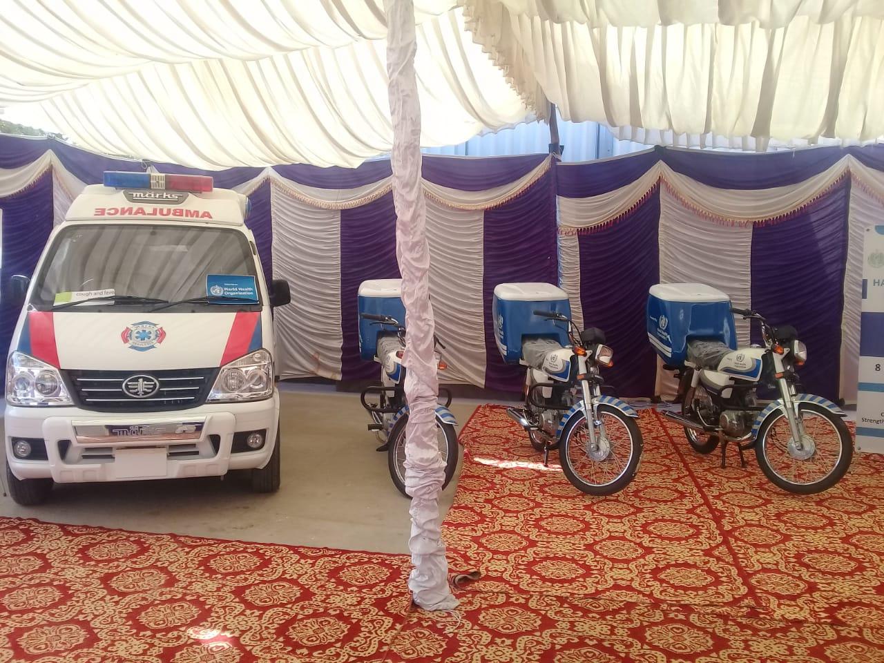 WHO Donates 2 Ambulances for District Tharparkar - Sindh Courier-1