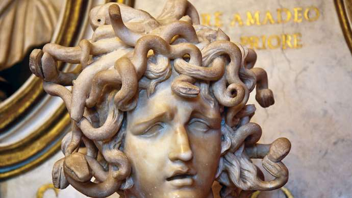 Contemporary World Literature- Poetry from Mexico- Medusa-marble-sculpture-