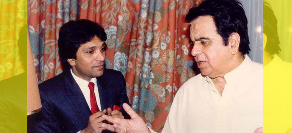 Moin-Akhtar with Dilip Kumar