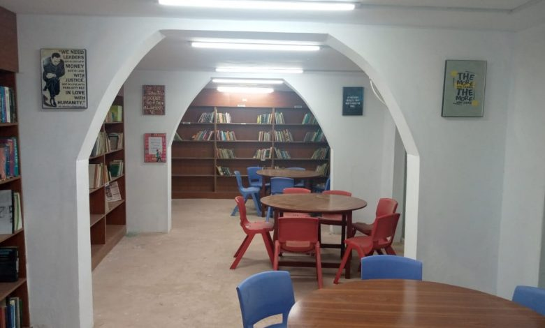 Photo of 4 Unused shops turned into a beautiful Public Library in Tando Jam