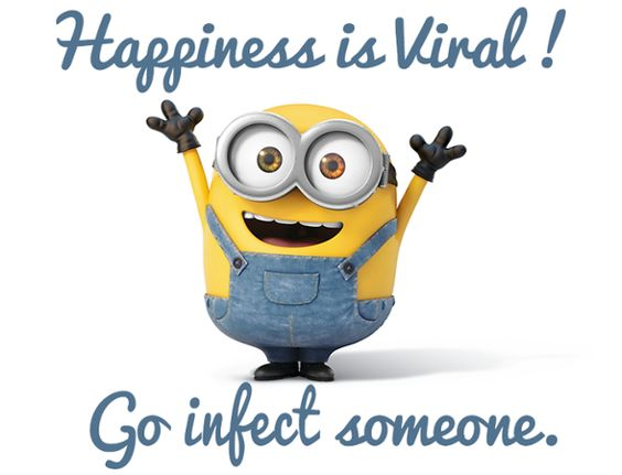 Photo of Happiness is viral… Go infect someone!!