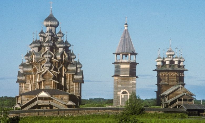 Photo of Russia's Towering Wooden Shrines