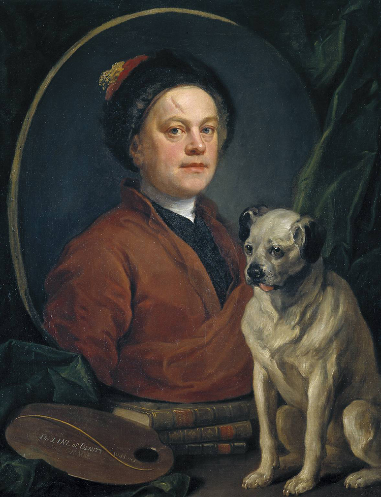 The Painter and his Pug 1745 by William Hogarth 1697-1764