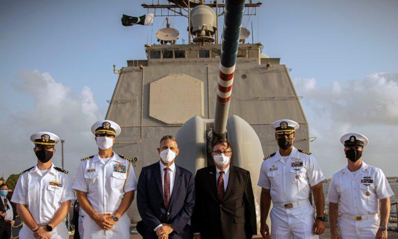 Photo of U.S. Guided-Missile Cruiser Visits Karachi