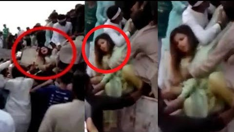 Photo of Shameful incident at Minar-e-Pakistan in Lahore