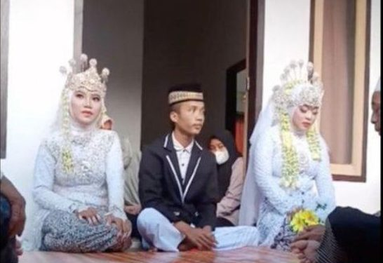 Photo of Man marries fiancé and ex-girlfriend at the same wedding