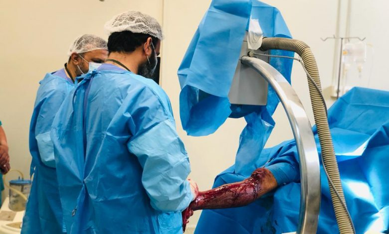 Photo of First ever Inter-Locking Nail Tibia Surgery performed at Khairpur Civil Hospital