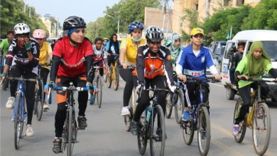 Photo of Three Baloch girls excel DMC South Defence Day Women Cycling Race