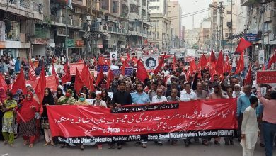 Photo of Workers' Red Flag March in Karachi against govt. policies