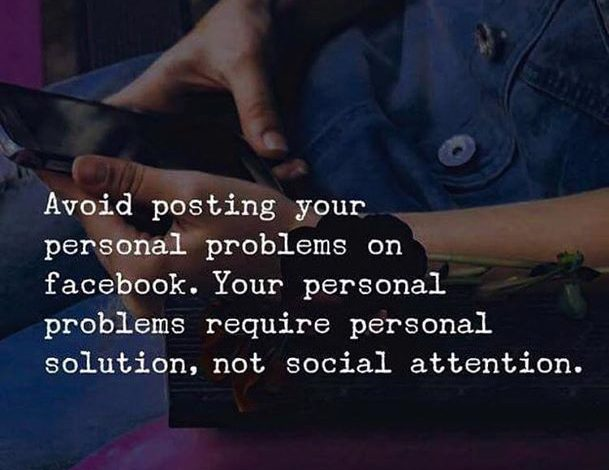 Photo of Avoid posting your personal problems on social media